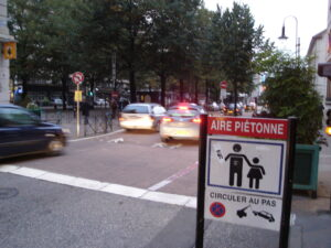 Aire piétonne in Chambery