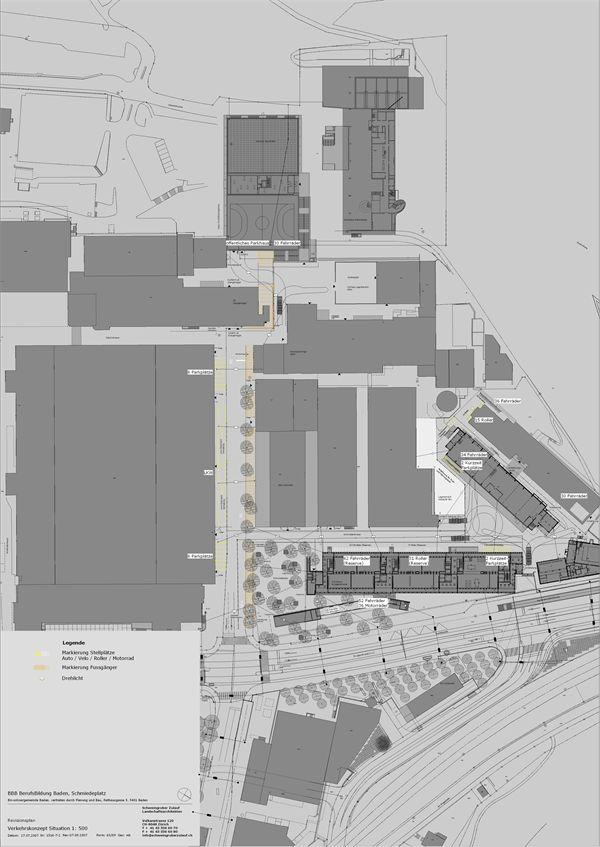 Situation 1:500 Quelle: Schweingruber Zulauf Landschaftsarchitekten