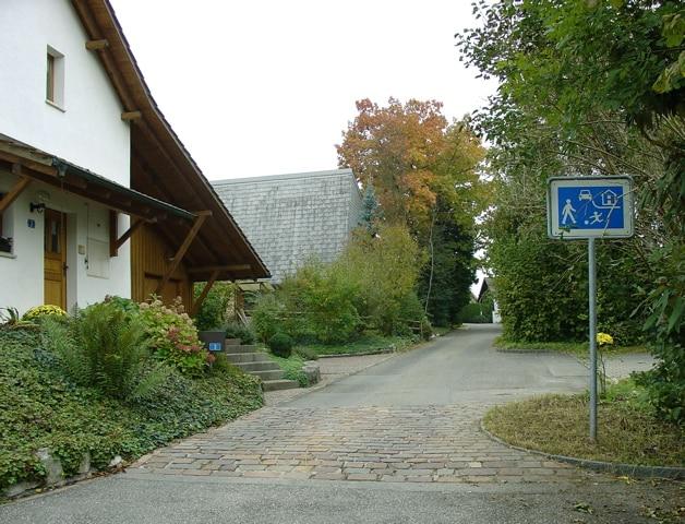 Alte Signalisation Wohnstrasse
